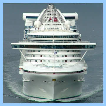 Photo of Golden Princess from the front
