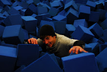 Peter Madigan fighting his way out of the foam pits of Woodward 2009