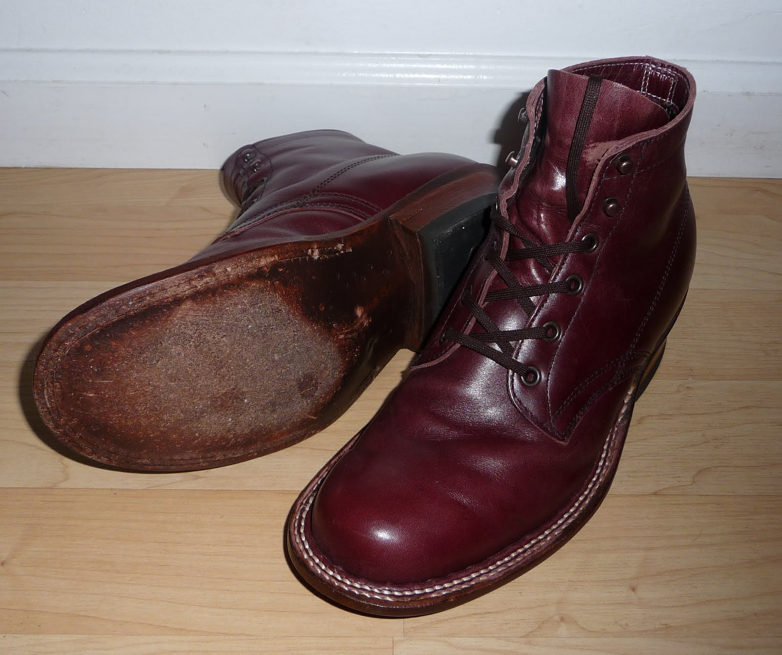 Vintage Engineer Boots: BEWARE - WHITE&-39-S SEMI-DRESS BOOTS