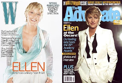 CLICK to Enlarge Ellen the Cover Girl, Squared