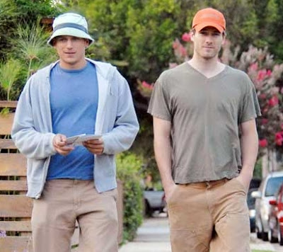 Wentworth and a Luke, walking down the street, not K-I-S-S-I-N-G... wait...