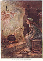 It Was Her Fairy Godmother!, by Oliver Herford, in Childhood's Favorites and Fairy Stories, eds. Mabie, Hale, and Forbush (1919) - via Wikimedia Commons and Project Gutenberg - public domain