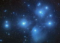 Don't let the Pleiades make you cry - Image of M45 star cluster by NASA, via Wikimedia Commons - public domain