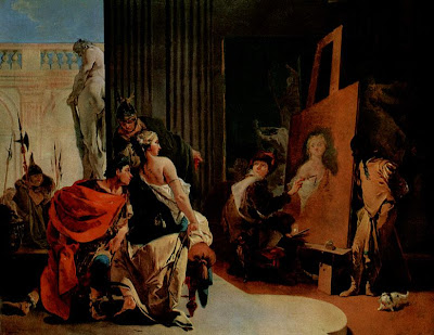 Alexander the Great and Campaspe in the Studio of Apelles - Giovanni Battista Tiepolo, 1726 - public domain, via Wikimedia Commons