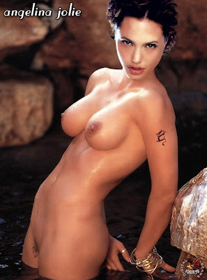 and the Angelina Jolie nude photo is before she had quite so many tattoos ...