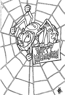coloring pages halloween spiders - photo#23