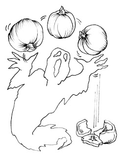 Scary Halloween Ghost Coloring Pages Free Printables
