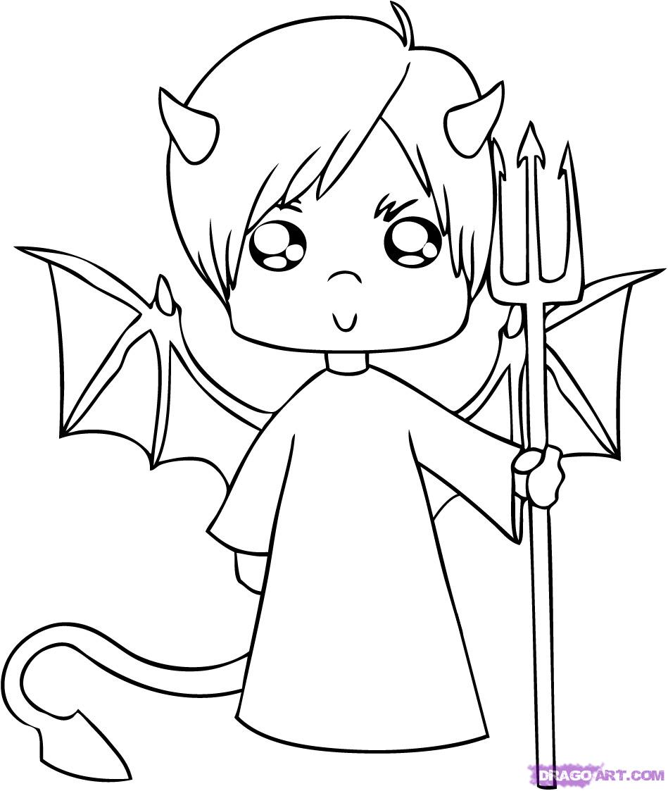 devil coloring pages halloween coloring pages july 2010