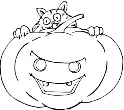 angry pumpkin face printables