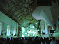 the inside of the prespanish church