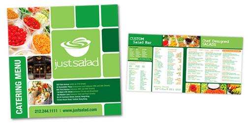 Food Brochures: Salad Catering Menu Brochure