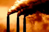 Smoke Stacks emit Carbon Dioxide