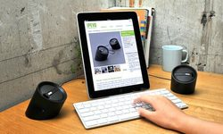 Bluetooth-Enabled Tubular Speakers for iPad and iPhone
