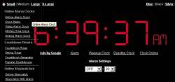 Online Alarm Clock website Relaunched with Navigation Menu