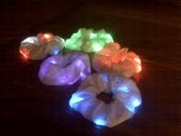 Ponytail Lights - New Hair Accessory Brightly Blinks in Colors