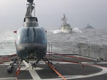 Durante maniobras navales