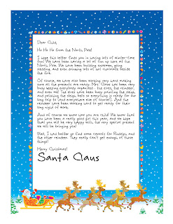 Rare image pertaining to santa claus letter template printable free