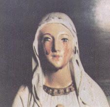 Lágrimas de sangre de la Virgen María.