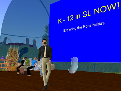 Meeting on K12 in SL at the Bandshell, ISTE Island