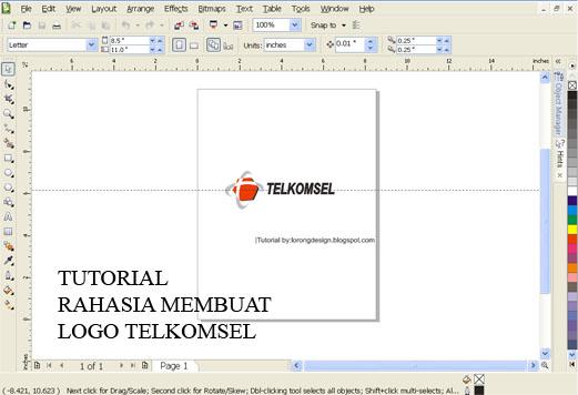 LORONGDESIGN: Rahasia Teknik Membuat Logo TELKOMSEL dengan Coreldraw