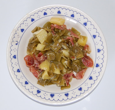 Judías verdes estofadas con jamón y patata