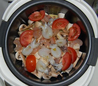 Preparando el plato