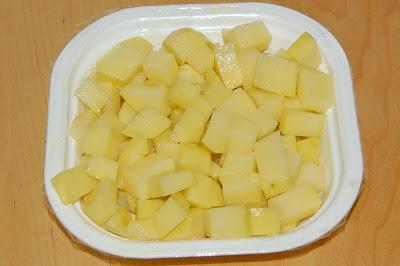 Patatas embadurnadas en aceite