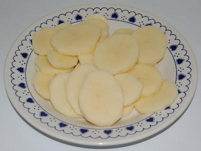 Patatas peladas y cortadas