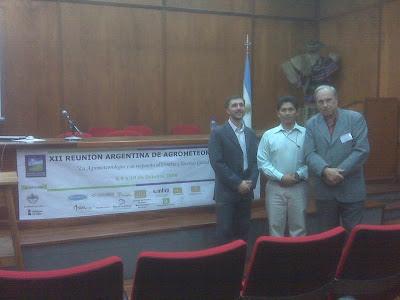 9 de Octubre 2008- Taller de la RED en el marco de la Reunión Argentina de Agrometeorología - JUJUY