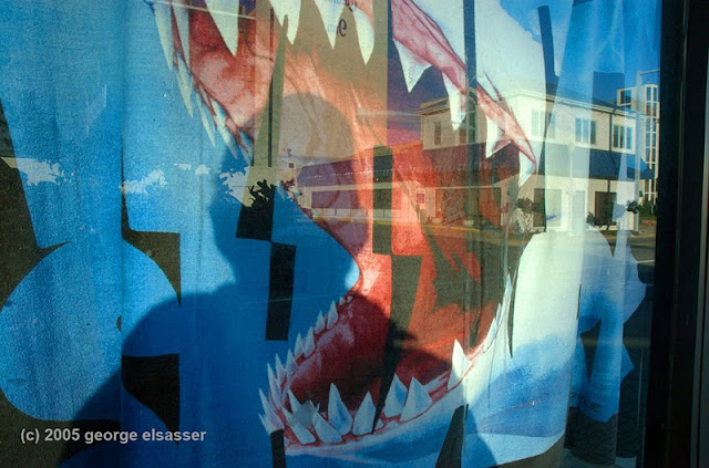 """image of beach towel in store window"", (c) george elsasser"