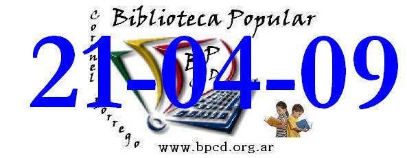 Primer diseño de la Biblio 2009