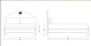 Working Drawing Except For Change To Side View At Footboard