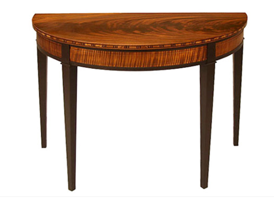 Custom Furniture A Woodworkers Photo Journal Two Half Round Tables
