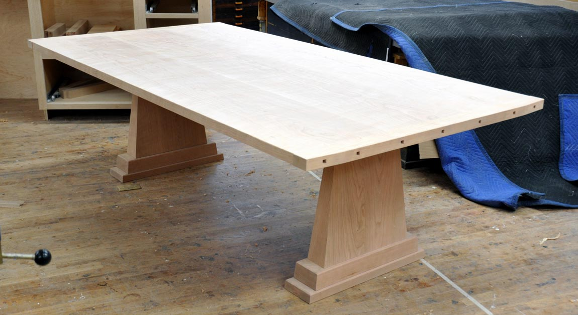 Weu0027re Working On A New Trestle Table Design ,,,, The Trestle Is One Of My  Favorite Forms .. It Can Be Light And Airy Or Substantial And Weighty .