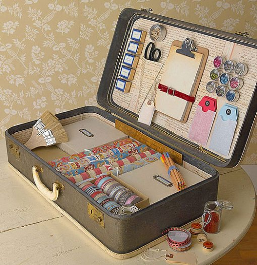 retropolitan repurposed vintage luggage