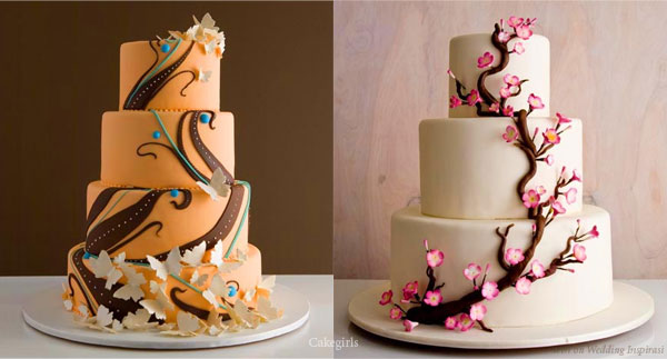 Floral Wedding Cake Toppers