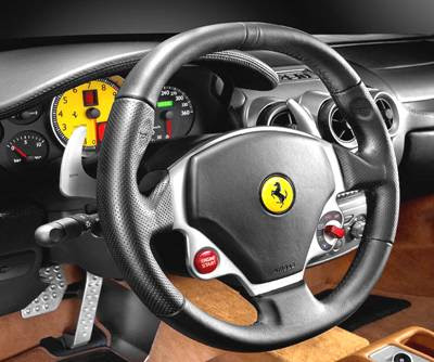 Ferrari F430 Interior Pictures. driver more control over