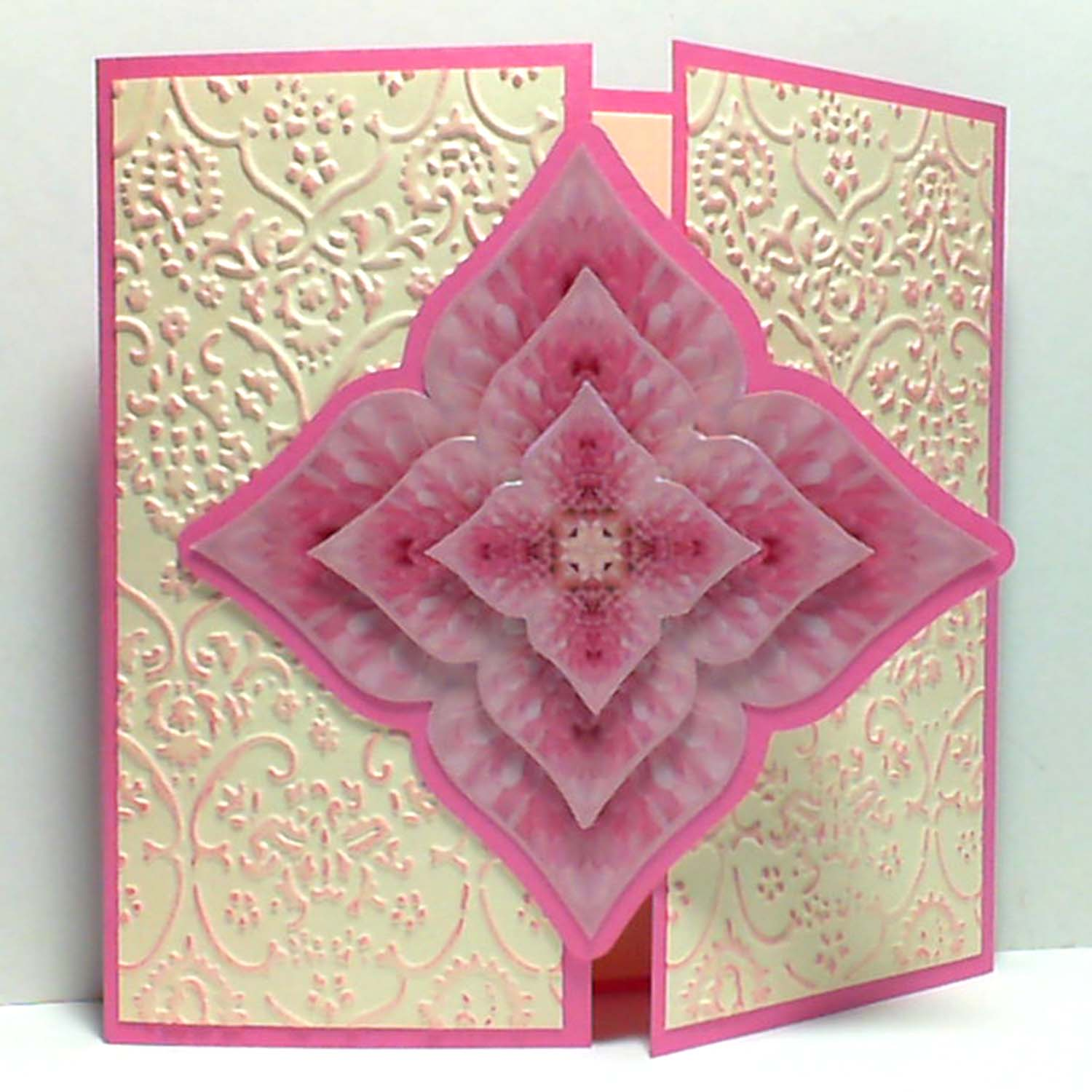 card could be using 3 different kaleidoscopes from the same template ...