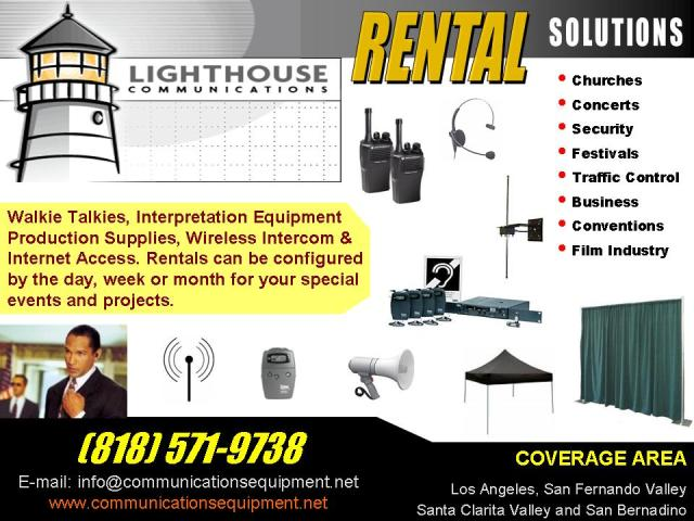 Lighthouse Communications Equipmnent