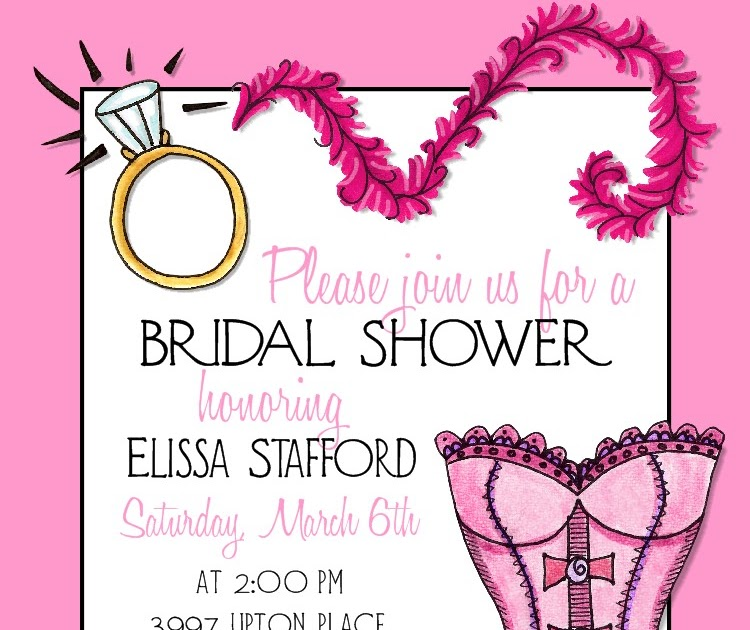 bear river photo greetings pink lingerie bridal shower invitation