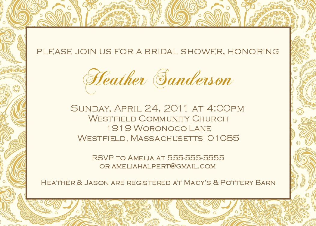 Bear river photo greetings elegant bridal shower invitations for Elegant bridal shower invitations