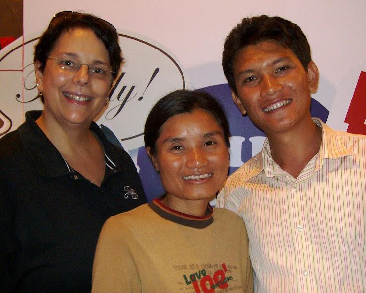 Christie with Warunee (God-child) & husband, Supot