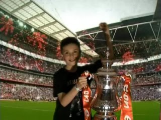 Eddie My Son With FA Cup