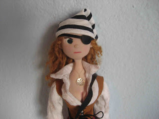 girl pirate doll eyepatch