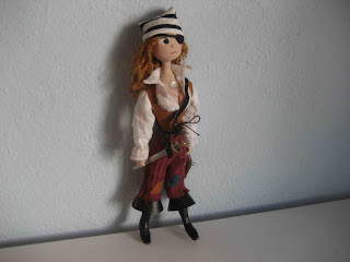 woman pirate doll