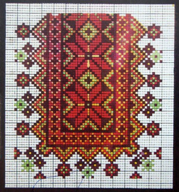 Вышивка крестом схемы для мужской вышиванки