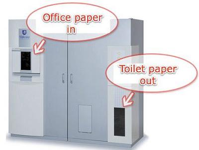 สิ่งประดิษฐ์ใหม่ เครื่องผลิต กระดาษชำระ จาก กระดาษเหลือใช้