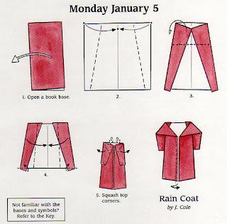 พับเสื้อ Coat กระดาษ