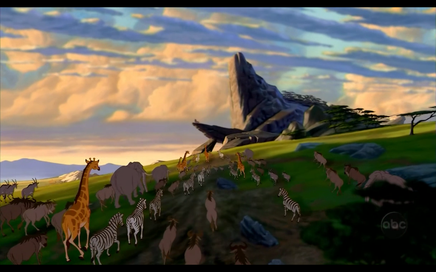 Lion king pride rock scene - photo#3