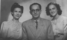 Thereza Porto Sandoval , marido e a filha Maria Augusta